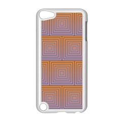 Brick Wall Squared Concentric Squares Apple Ipod Touch 5 Case (white) by Simbadda