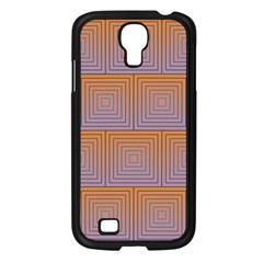 Brick Wall Squared Concentric Squares Samsung Galaxy S4 I9500/ I9505 Case (black) by Simbadda