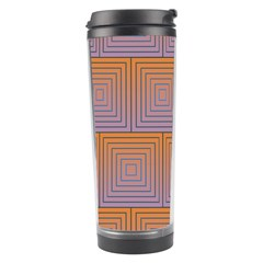 Brick Wall Squared Concentric Squares Travel Tumbler