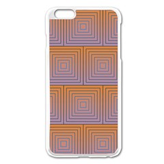 Brick Wall Squared Concentric Squares Apple Iphone 6 Plus/6s Plus Enamel White Case by Simbadda