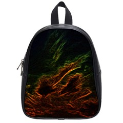 Abstract Glowing Edges School Bags (small)  by Simbadda