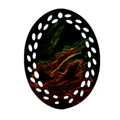 Abstract Glowing Edges Oval Filigree Ornament (two Sides) by Simbadda