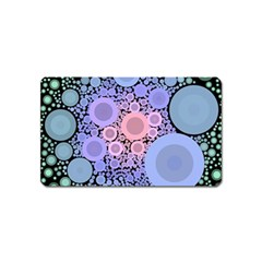 An Abstract Background Consisting Of Pastel Colored Circle Magnet (name Card) by Simbadda