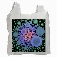 An Abstract Background Consisting Of Pastel Colored Circle Recycle Bag (one Side) by Simbadda