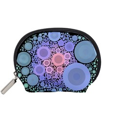 An Abstract Background Consisting Of Pastel Colored Circle Accessory Pouches (small)  by Simbadda