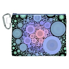 An Abstract Background Consisting Of Pastel Colored Circle Canvas Cosmetic Bag (xxl) by Simbadda