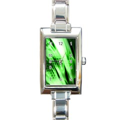 Abstract Background Green Rectangle Italian Charm Watch by Simbadda