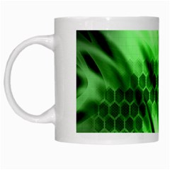 Abstract Background Green White Mugs by Simbadda