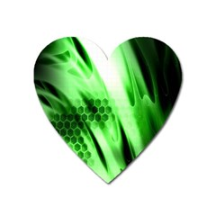 Abstract Background Green Heart Magnet by Simbadda