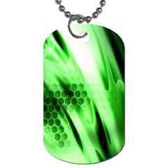 Abstract Background Green Dog Tag (one Side) by Simbadda