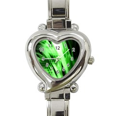 Abstract Background Green Heart Italian Charm Watch by Simbadda