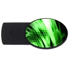 Abstract Background Green Usb Flash Drive Oval (4 Gb) by Simbadda