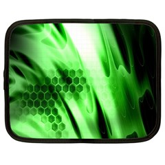 Abstract Background Green Netbook Case (large) by Simbadda