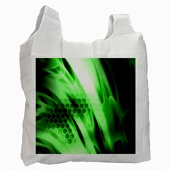 Abstract Background Green Recycle Bag (one Side) by Simbadda