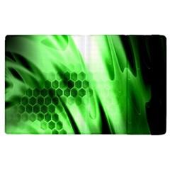 Abstract Background Green Apple Ipad 3/4 Flip Case by Simbadda