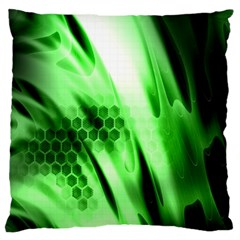 Abstract Background Green Standard Flano Cushion Case (two Sides) by Simbadda