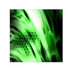 Abstract Background Green Small Satin Scarf (square) by Simbadda