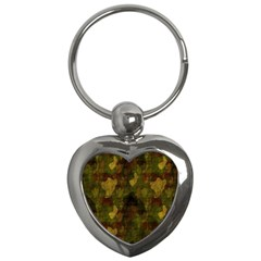 Textured Camo Key Chains (heart)  by Simbadda