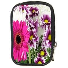 Purple White Flower Bouquet Compact Camera Cases by Simbadda