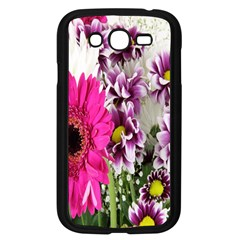 Purple White Flower Bouquet Samsung Galaxy Grand Duos I9082 Case (black) by Simbadda