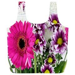 Purple White Flower Bouquet Full Print Recycle Bags (l)  by Simbadda