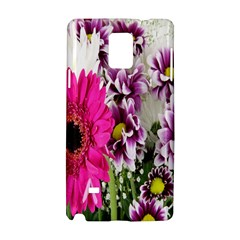 Purple White Flower Bouquet Samsung Galaxy Note 4 Hardshell Case by Simbadda