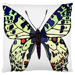 A Colorful Butterfly Image Large Cushion Case (one Side) by Simbadda