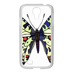 A Colorful Butterfly Image Samsung Galaxy S4 I9500/ I9505 Case (white) by Simbadda