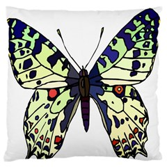 A Colorful Butterfly Image Standard Flano Cushion Case (one Side) by Simbadda