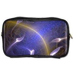 Fractal Magic Flames In 3d Glass Frame Toiletries Bags 2 Side by Simbadda