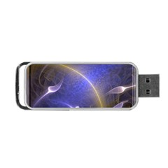 Fractal Magic Flames In 3d Glass Frame Portable Usb Flash (two Sides) by Simbadda