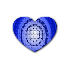 Abstract Background Blue Created With Layers Heart Coaster (4 Pack)  by Simbadda