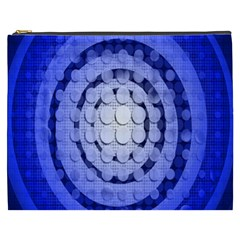 Abstract Background Blue Created With Layers Cosmetic Bag (xxxl)  by Simbadda