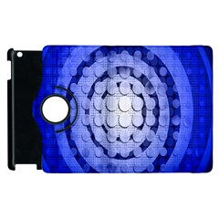 Abstract Background Blue Created With Layers Apple Ipad 3/4 Flip 360 Case by Simbadda