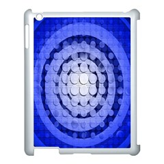 Abstract Background Blue Created With Layers Apple Ipad 3/4 Case (white) by Simbadda