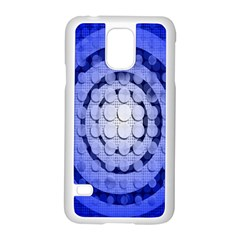 Abstract Background Blue Created With Layers Samsung Galaxy S5 Case (white) by Simbadda
