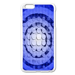 Abstract Background Blue Created With Layers Apple Iphone 6 Plus/6s Plus Enamel White Case by Simbadda