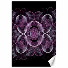 Fractal In Lovely Swirls Of Purple And Blue Canvas 20  X 30   by Simbadda