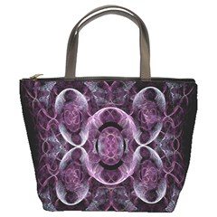 Fractal In Lovely Swirls Of Purple And Blue Bucket Bags by Simbadda