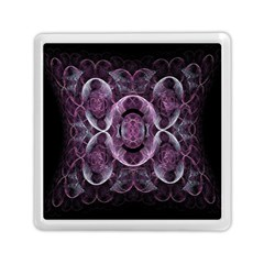 Fractal In Lovely Swirls Of Purple And Blue Memory Card Reader (square)  by Simbadda