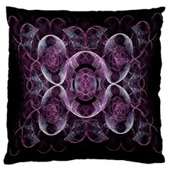 Fractal In Lovely Swirls Of Purple And Blue Large Cushion Case (two Sides) by Simbadda