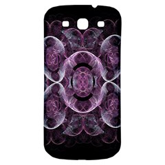 Fractal In Lovely Swirls Of Purple And Blue Samsung Galaxy S3 S Iii Classic Hardshell Back Case by Simbadda