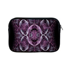 Fractal In Lovely Swirls Of Purple And Blue Apple Ipad Mini Zipper Cases by Simbadda