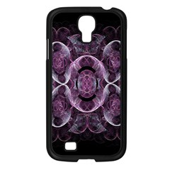 Fractal In Lovely Swirls Of Purple And Blue Samsung Galaxy S4 I9500/ I9505 Case (black) by Simbadda