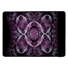 Fractal In Lovely Swirls Of Purple And Blue Samsung Galaxy Tab Pro 12 2  Flip Case by Simbadda