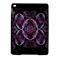 Fractal In Lovely Swirls Of Purple And Blue Ipad Air 2 Hardshell Cases by Simbadda