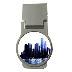 Abstract Of Downtown Chicago Effects Money Clips (round)  by Simbadda