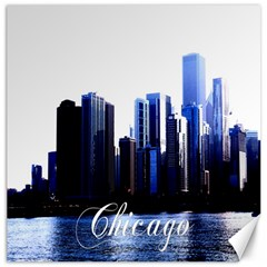 Abstract Of Downtown Chicago Effects Canvas 16  X 16   by Simbadda