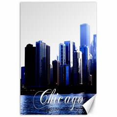 Abstract Of Downtown Chicago Effects Canvas 20  X 30   by Simbadda