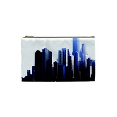 Abstract Of Downtown Chicago Effects Cosmetic Bag (small)  by Simbadda